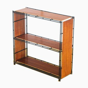 Spanish Wood and Iron Modular Shelves from Multiplex, 1970s, Set of 5