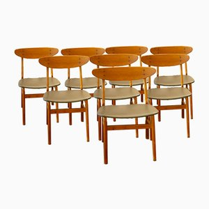 Monaco Dining Chairs by Thomas Madsen for Farstrup Møbler, 1960s, Set of 8
