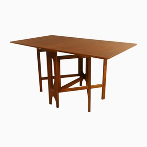 MId-Century Drop-Leaf and Gate Leg Dining Table, 1970s