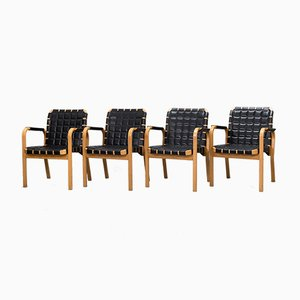 Model NV 45 Dining Chairs by Alvar Aalto for Artek, 1990s, Set of 4