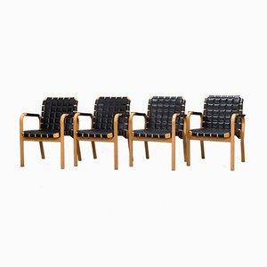 Sedie da pranzo modello nr. 45 di Alvar Aalto per Artek, anni '90, set di 4