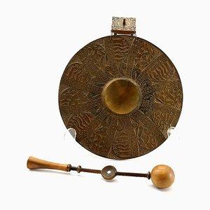 Gong in bronzo di Levente Rekassy, anni '70