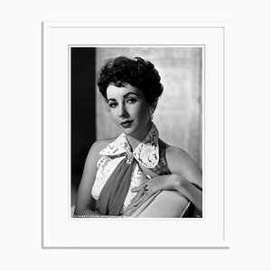 Elizabeth Taylor Archival Pigment Print Framed in White by Bettmann