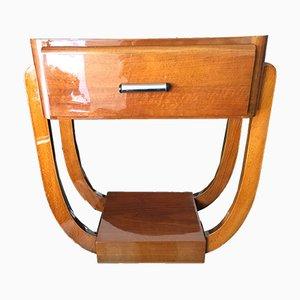 Table Console Art Déco Vintage en Noyer