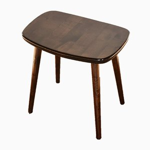 Mid-Century Brown Palle Stool by Yngve Ekström for Stolab, 1960s