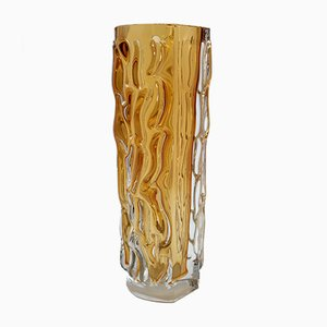 Vintage Handmade Heavy Murano Glass Vase, 1970s