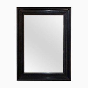 Flemish Style Ebonized Ripple Frame Mirror, 1950s