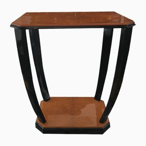 Art Deco Side Table in Walnut and Black
