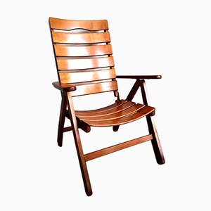 Vintage Teak Folding Deck Chair from Classic