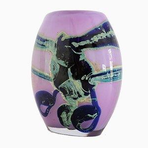 Vase Violet par Samuel J. Herman pour Val Saint Lambert, 1970s