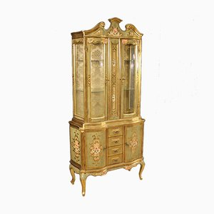 Tuscan Lacquered, Gilded & Painted Showcase, 1960s
