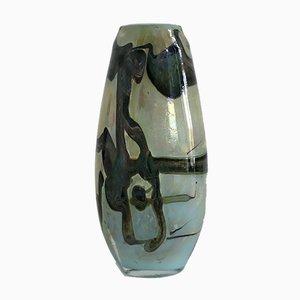Green Vase by Samuel J. Herman for Val Saint Lambert, 1970s