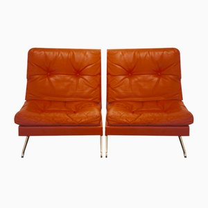 602-Series Lounge Chairs by Poul Norreklit for Älgarås, 1960s, Set of 2
