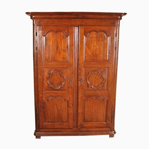Small Antique Louis XIV Wardrobe in Oak