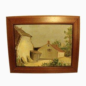 Rural Landscape Oil on Panel, 1970s