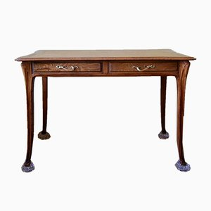 Antique Art Nouveau Oak Desk
