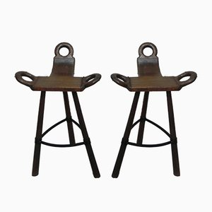 Spanish Barstools, 1960s, Set of 2