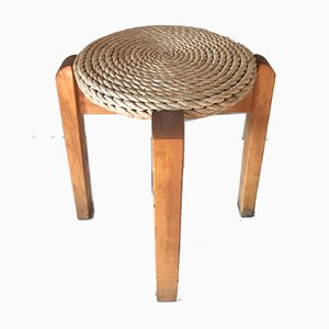 Pine and Straw Stool, 1980s