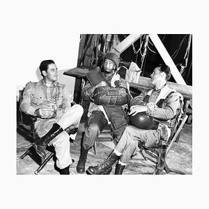 Errol Flynn, George Tobias & Henry Hull Archival Pigment Print Framed in White by Everett Collection