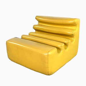 Yellow Karelia Lounge Chair by Liisi Beckmann for Zanotta, 1970s