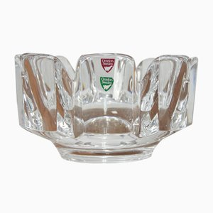 Vintage Crystal Corona Bowl by Lars Hellsten for Orrefors