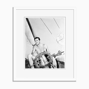 Errol & His Yacht Archival Pigment Print Framed in White by Everett Collection