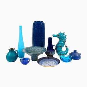Vintage Objekte aus Glas & Keramik, 1960er, 10er Set