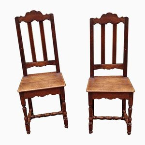 Sedie antiche in quercia, set di 2