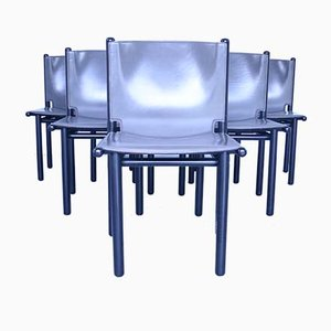 Caprile Dining Chairs by Gianfranco Frattini for Cassina, 1980s, Set of 6