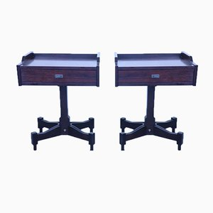 Rosewood Nightstands by Claudio Salocchi for Luigi Sormani, 1960s, Set of 2