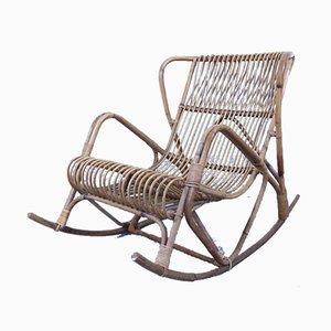 Mid-Century Bamboo Rocking Chair