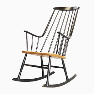 Vintage Grandessa Rocking Chair by Lena Larsson for Nesto, 1970s