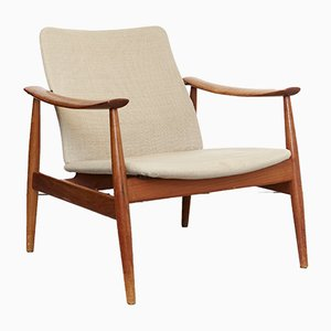 Mid-Century Model 138 Easy Chair by Finn Juhl for France & Søn, 1960s