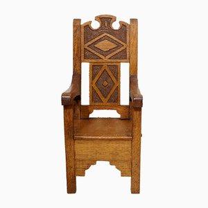 Eichenholz Lehrlings Stuhl, 1930er