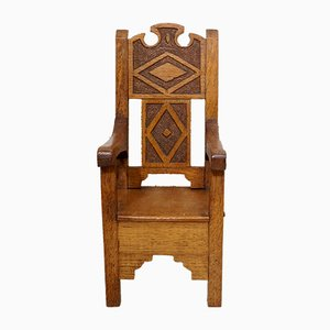 Oak Miniature Apprentice Chair, 1930s
