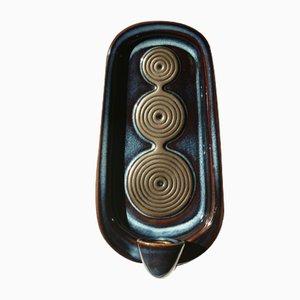 Portacandela da parete nr. 3460 in ceramica di Einar Johansen per Søholm, Scandinavia, anni '60