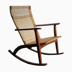 Mid-Century Scandinavian Rocking Chair by Hans Olsen for Juul Kristensen, 1950s