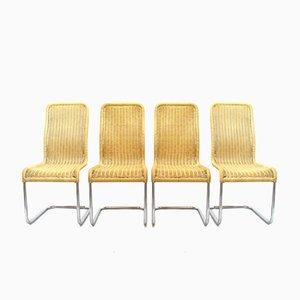 Deutsche Esszimmerstühle von Tecta, 1980er, 4er Set