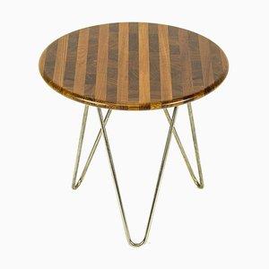 Small Vintage Danish Steel and Teak Side Table, 1970s