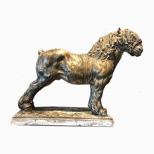Draft Horse Sculpture by Domien Ingels, 1930s