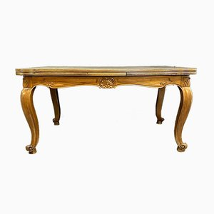 Large Louis XV Style Cherry Extension Dining Table, 1920s