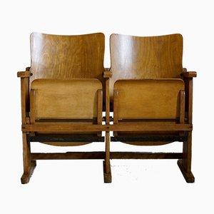 2-Sitzer Art Deco Kinobank, 1920er