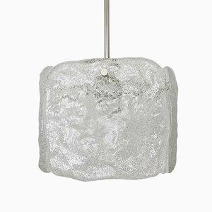 Austrian Ice Glass Chandelier by J. T. Kalmar for Franken KG, 1960s