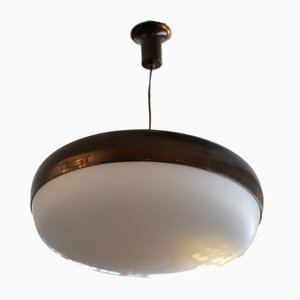Italienische Mid-Century UFO Deckenlampe von Stilnovo, 1950er
