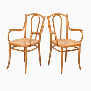 Antique Bentwood Model 56F Armchairs by Michael Thonet for Thonet, Set of 2