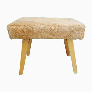 Fur Stool with Stepladder, 1970s