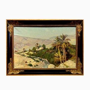 Großer Walk on the Edge of a Oasis Öl auf Leinwand von Jean Darley