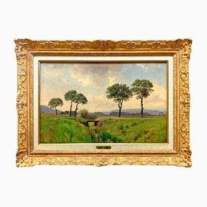Swiss Landscape Oil on Panel by Jean-Philippe George-Julliard, 1868