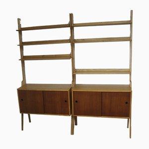 Vintage Modular Bookcase, 1960s, Set of 2