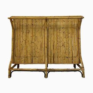 Mueble bar italiano de bambú, años 50